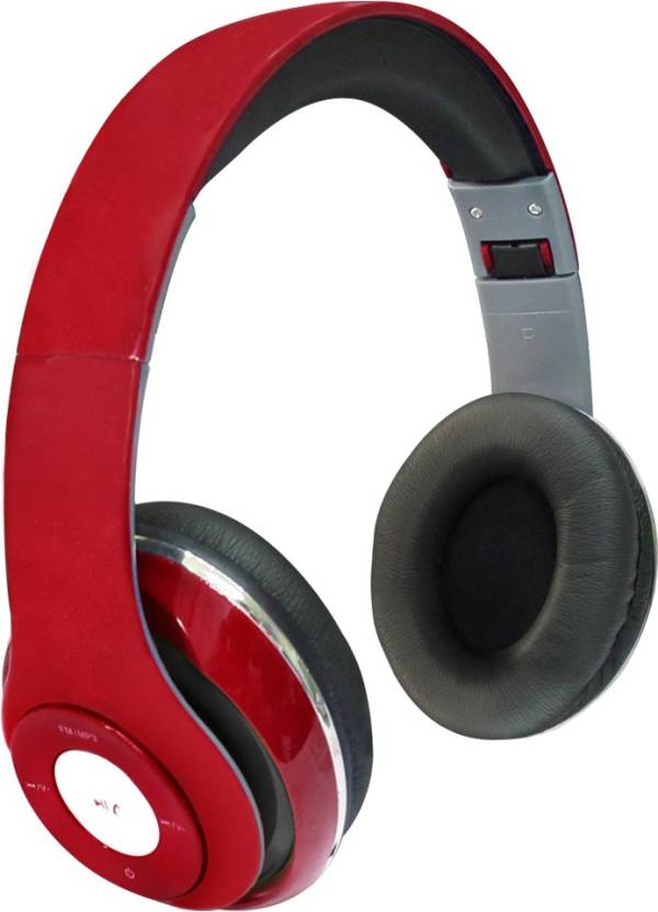 SData Plus Plus TM 010S Bluetooth, Wired Headset with Mic Red, Over the Ear