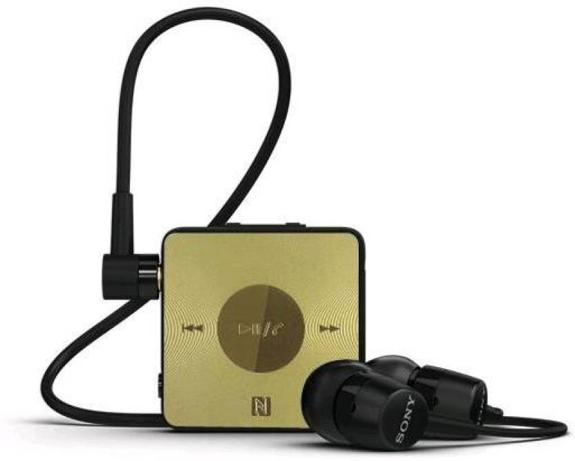 7836300912d Sony sbh20 black-gold Bluetooth Headset with Mic (Black, Gold, In the Ear)