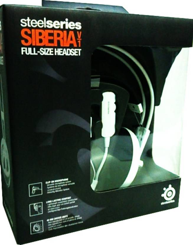 Steelseries Siberia V/1 Full Size Headset (White)
