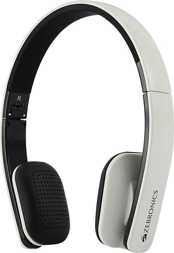 176f5fa1d6f Zebronics Happy Head White Bluetooth Headset with Mic (White, On the Ear)