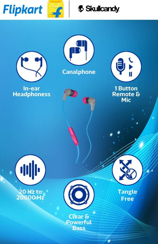 Skullcandy S2IKGY-383 Inkd In-the-ear Headset