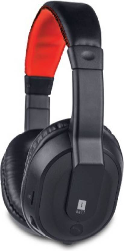 Iball Musi Tap Clarity Headsets with BT / FM / MicroSD Playback Bluetooth Headset with Mic Black, Over the Ear  Iball Headphones