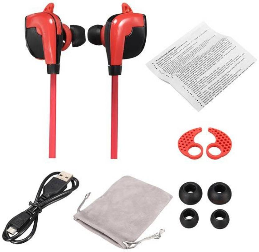 Life Like STN 840 WIRELESS BLUETOOTH 4.1 EARPHONES WITH MIC Bluetooth Headset Red, In the Ear