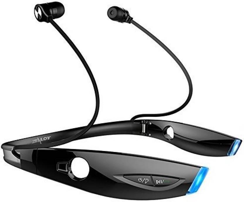 9148b2dd4b2 ZEALOT ZEALOT Headset Wired, Bluetooth Headset with Mic (Black, In the Ear)