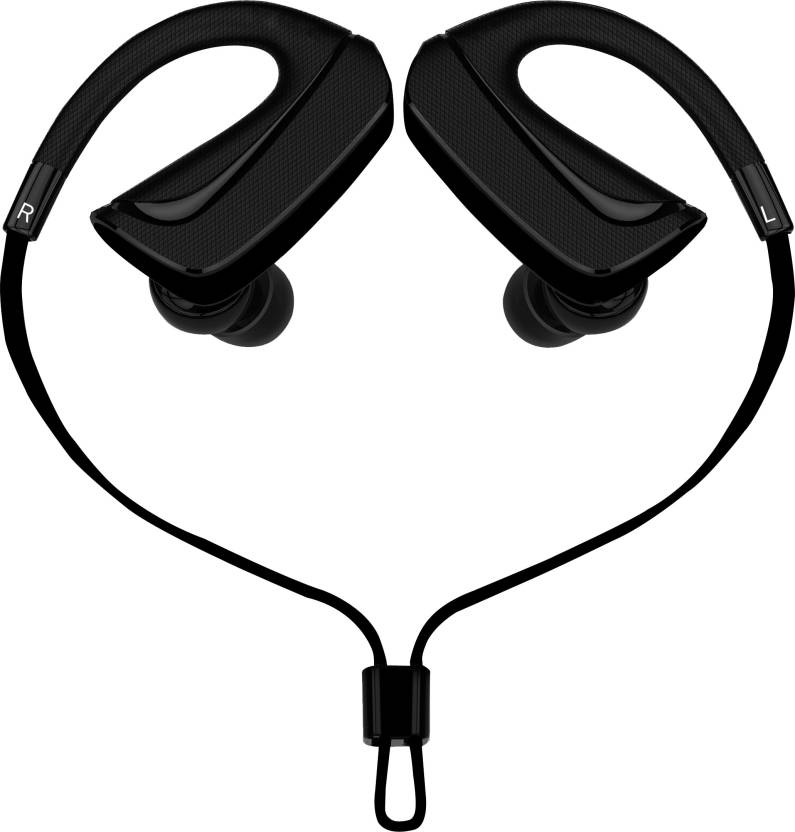 0ca4fa69bdf Envent LiveFit ET-BTESM001-BK Wired Headset with Mic (Black, In the Ear)