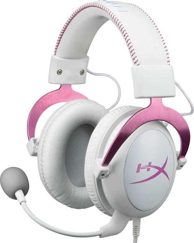 37cd3c21103 HyperX Cloud II Gaming Headset for PC,Xbox One,PS4 - Pink (Pink, Over the  Ear)