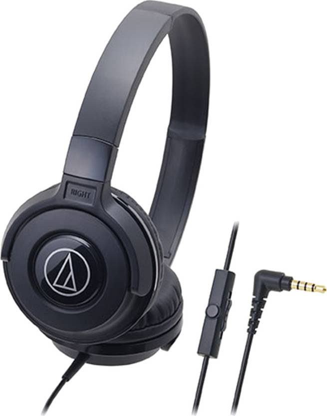 Audio Technica ATH-S100iS BK Headset with Mic