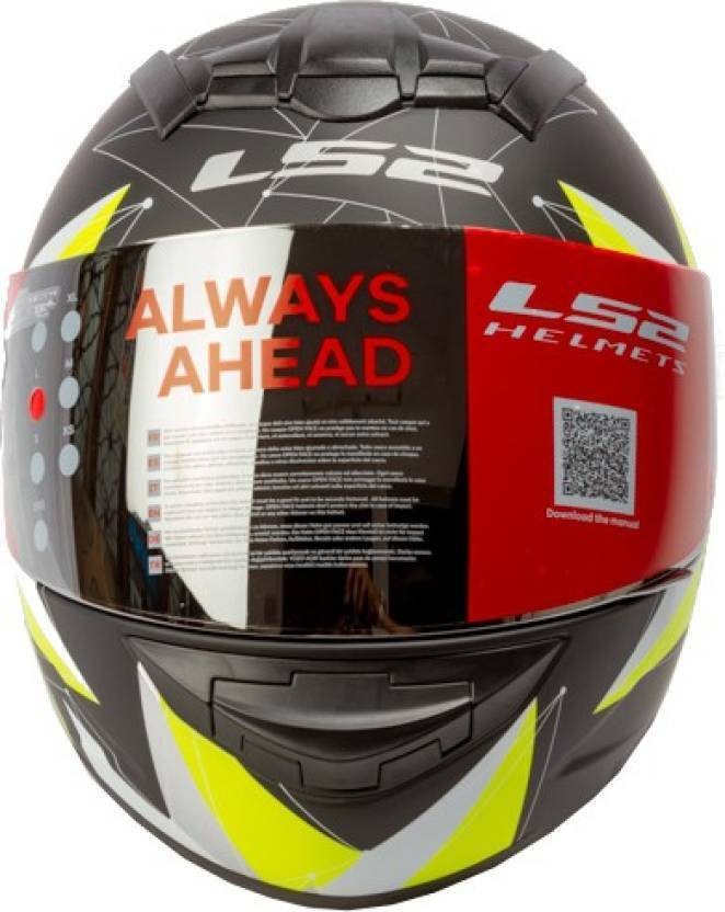 3f3f31ae5ae LS2 Vortic Black Yellow with Mercury Visor Motorbike Helmet (Black, Yellow)