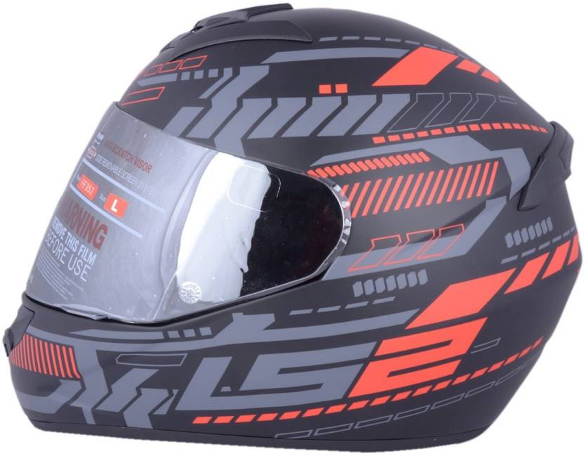 LS2 FF352 Tron Black Red Motorbike Helmet