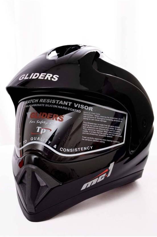 844c56d0 Gliders by Liberty MC1 Plain Motorbike Helmet - Buy Gliders by ...