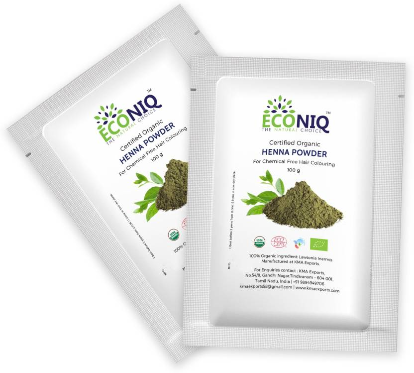 Econiq Henna Leaf Powder For Hair Price In India Buy Econiq Henna