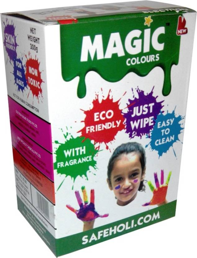Magic Colours Easy Clean Holi Color Powder Pack of 5  (Red, Gold, Blue, Pink, Green, 300 g)- 9% OFF