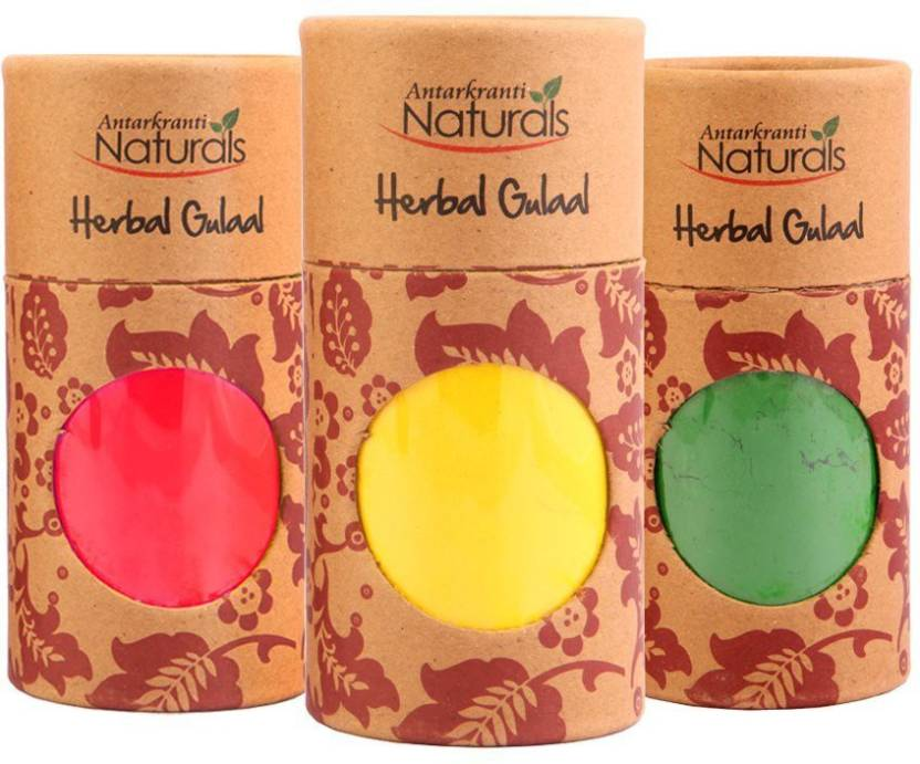 Asns Online Services Holi Color Powder Pack of 3  (Red, Yellow, Green, 413 g)-37% OFF