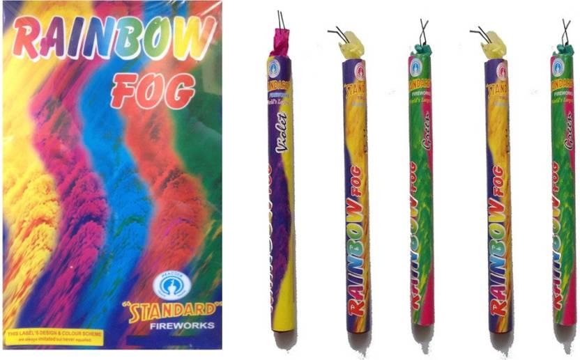 Shri Ganesha Rainbow Fog Gulal Holi Color Powder Pack of 5  (Red, Yellow, Blue, Pink, Green, 900 g)-35% OFF
