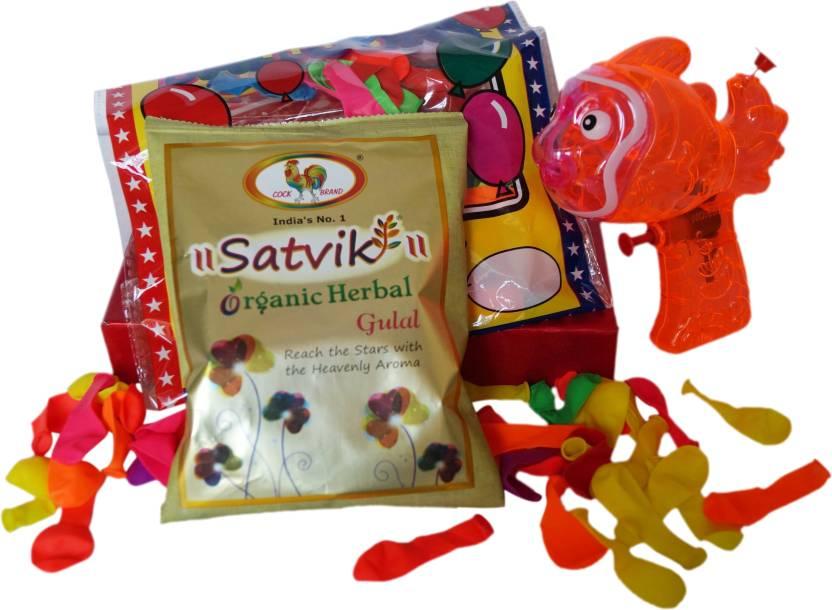 Luxury Gifts By Nikki Pichkari, Color, Balloon Holi Combo-4% OFF