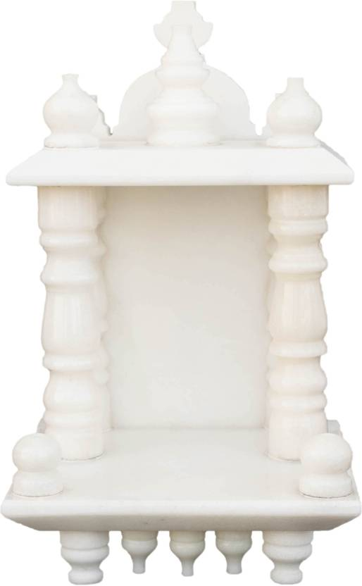 eShilp Home Temple Pooja Mandir small size 10.25 inches Marble Home ...