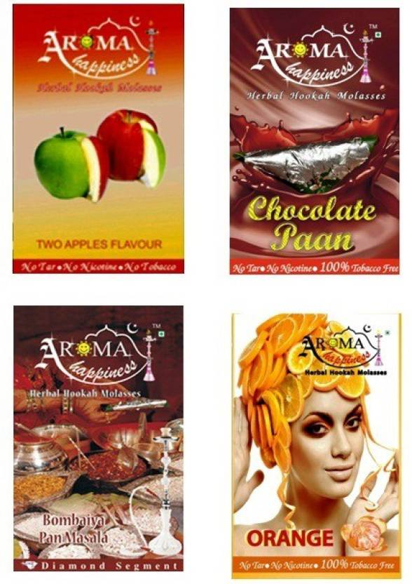 Aroma Happiness Pegs'N'Pipes Assorted Hookah Flavor