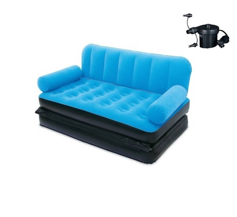 Mse Airsofa Cum Indoor Outdoor Bed 034 Pvc 2 Seater Inflatable Sofa
