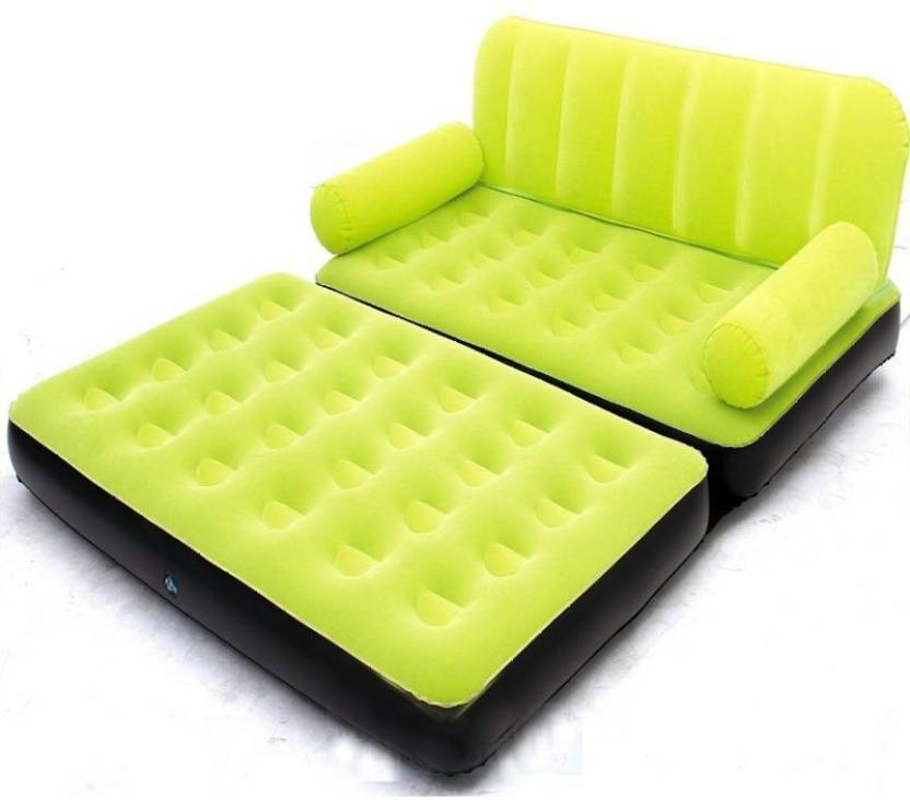 Airsofa 5 In 1 Air Bed Velvet Mattress Lounge Seat Couch Carbed With Electric Pump Pp