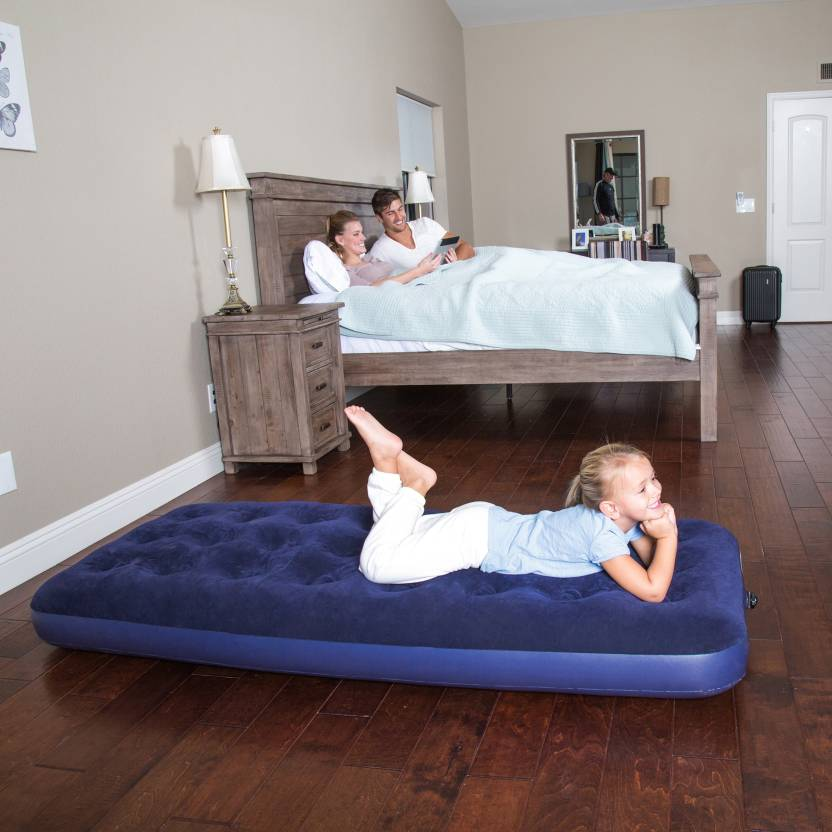 Bestway Karmax Flocked Air Bed Single Pvc 1 Seater Inflatable Sofa