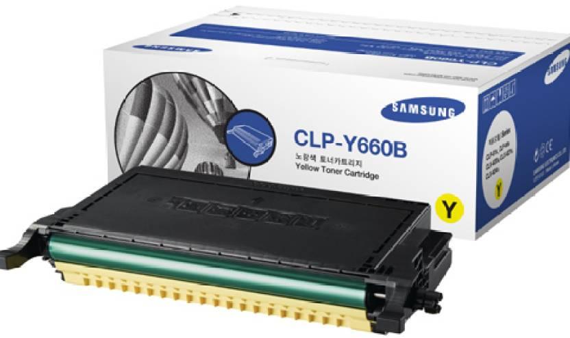 Samsung CLP Y660B Yellow Toner Cartridge