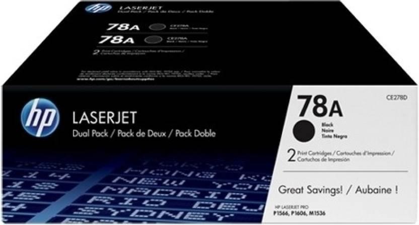 HP 78A Black Dual Pack LasetJet Toner Cartridge