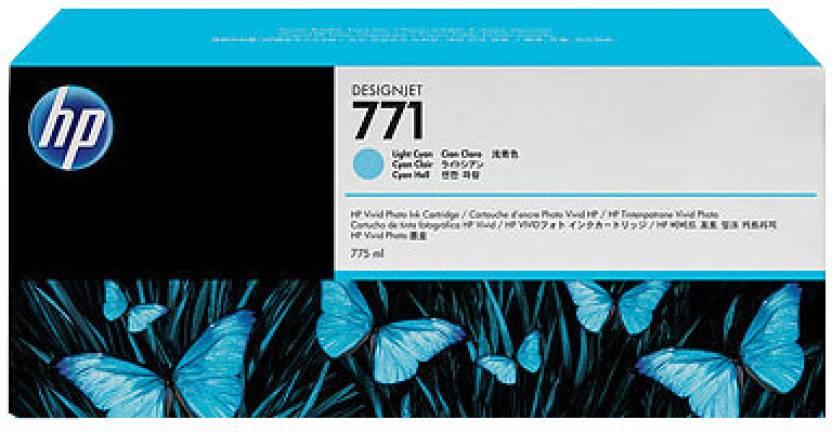 HP 771 775-ml Light Cyan Designjet Ink Cartridge