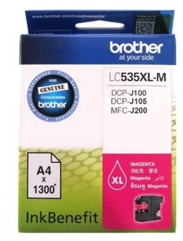 Brother LC535XL-M Original Magenta Single Color Ink Cartridge (Magenta)