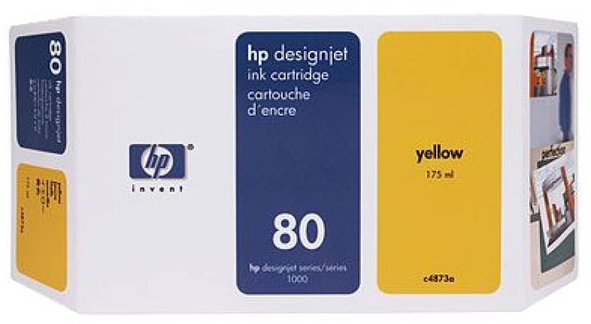 HP 80 350 ml Yellow Ink Cartridge