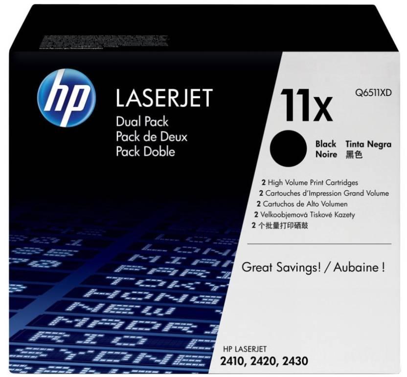 HP 11X Black Dual Pack LaserJet Toner Cartridge