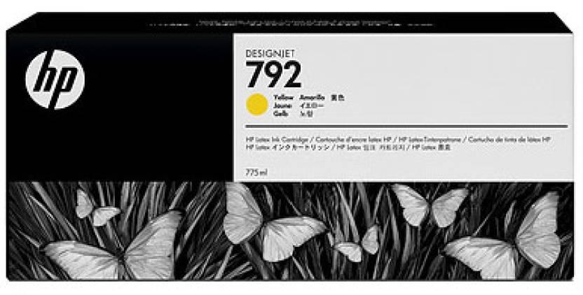 HP 792 775-ml Yellow Latex Designjet Ink Cartridge
