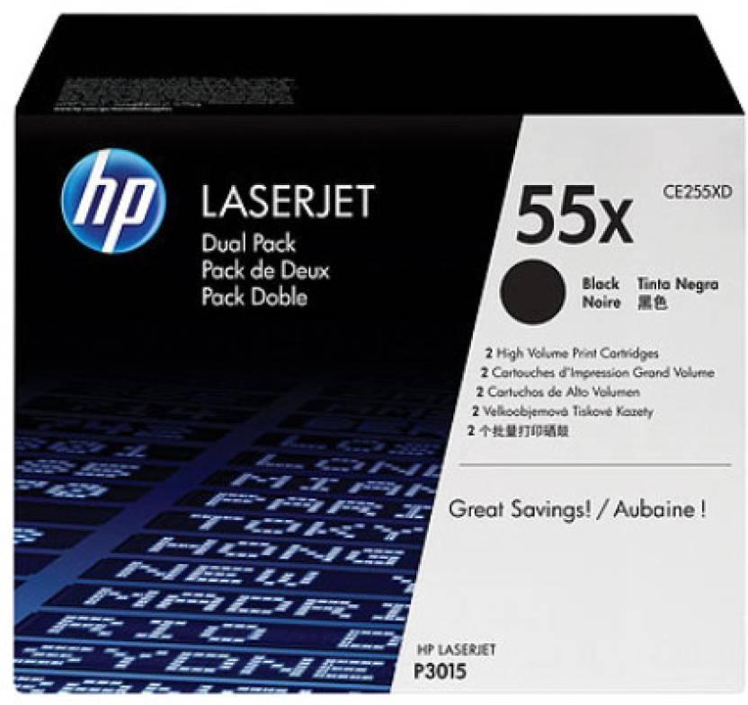 HP 55X Black Dual Pack Laserjet Toner Cartridges