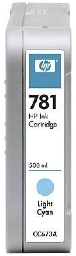 HP 781 500-ml Light Cyan Ink Cartridge