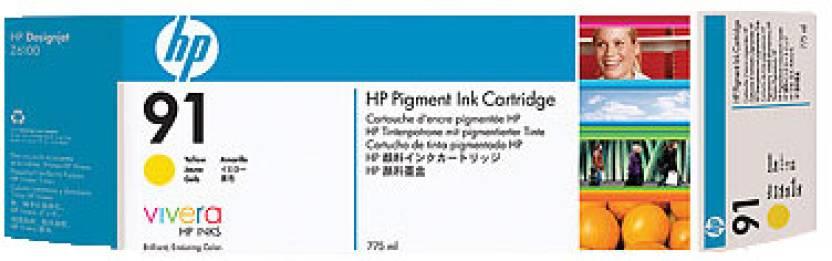 HP 91 775 ml Pigment Yellow Ink Cartridge