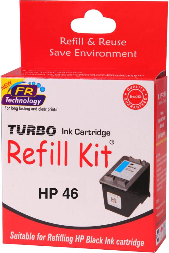 Turbo Ink refill kit for HP 46 black cartridge Single Color Ink Cartridge