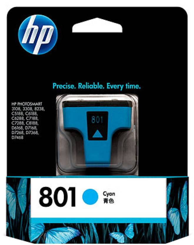 HP 801 Cyan Ink Cartridge