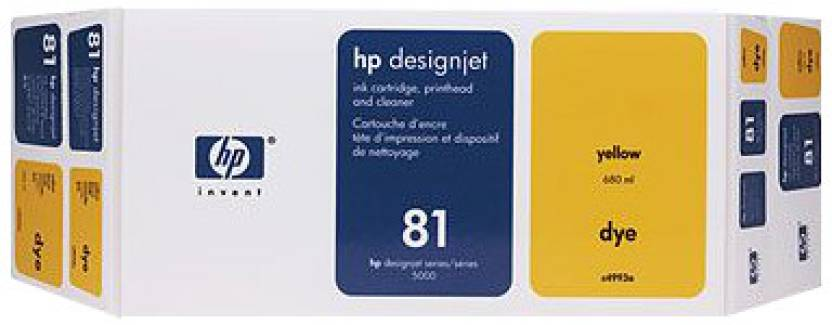 HP 81 Yellow Dye Value Pack 680 ml Ink Cartridge