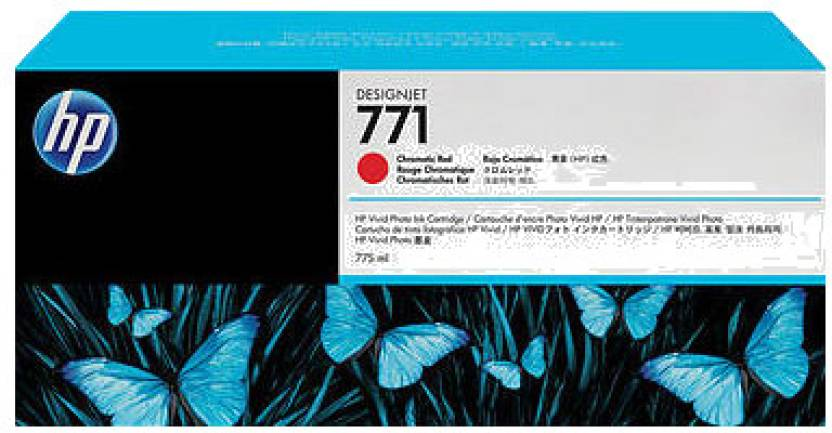 HP 771 3-pack Chromatic Red Designjet Ink Cartridges