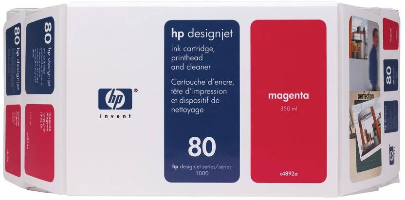 HP 80 Value Pack 350 ml Magenta Ink Cartridge and Printhead