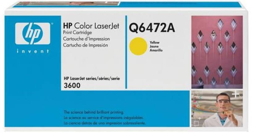 HP Color LaserJet Q6472A Yellow Print Cartridge