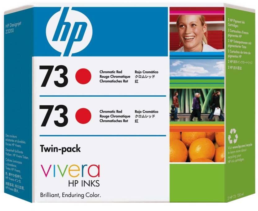 HP 73 2-pack 130-ml Chromatic Red Ink Cartridge
