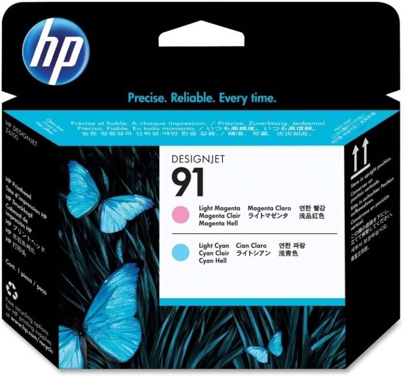 HP 91 Light Cyan and Light Magenta Printhead