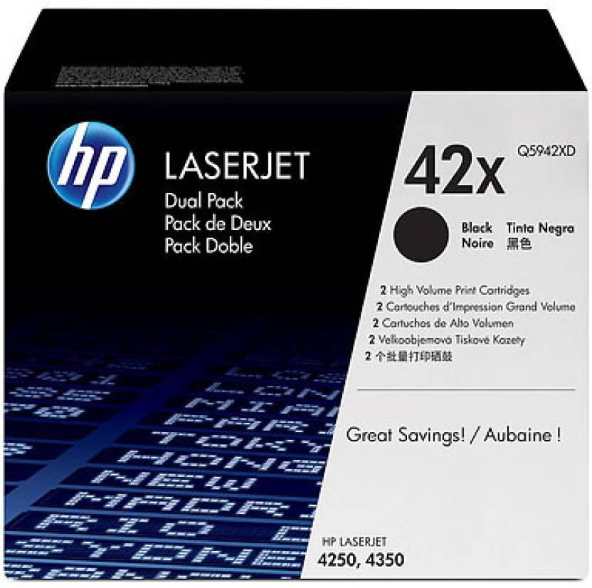 HP 42X Black Dual Pack LaserJet Toner Cartridge