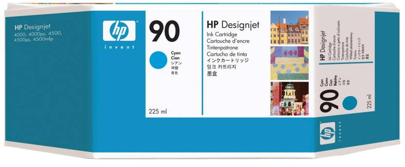 HP 90 225-ml Cyan Ink Cartridge