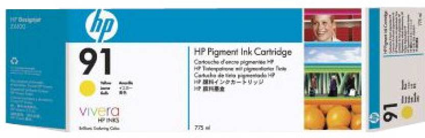 HP 91 3 pack 775 ml Yellow Ink Cartridges