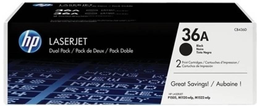 HP 36A Black Dual Pack LasetJet Toner Cartridge
