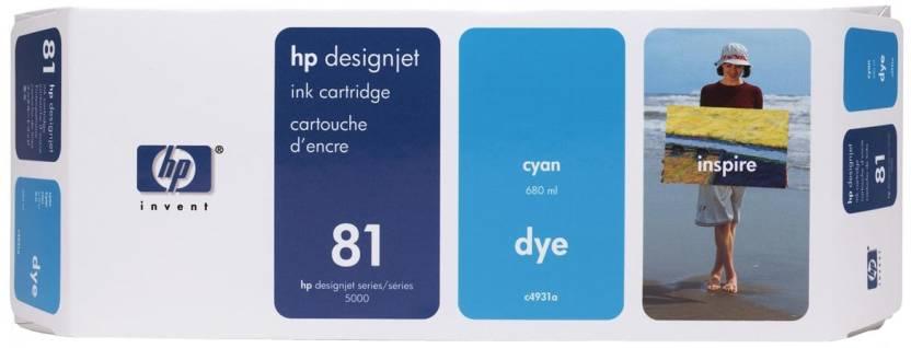 HP 81 680 ml Cyan Dye Ink Cartridge