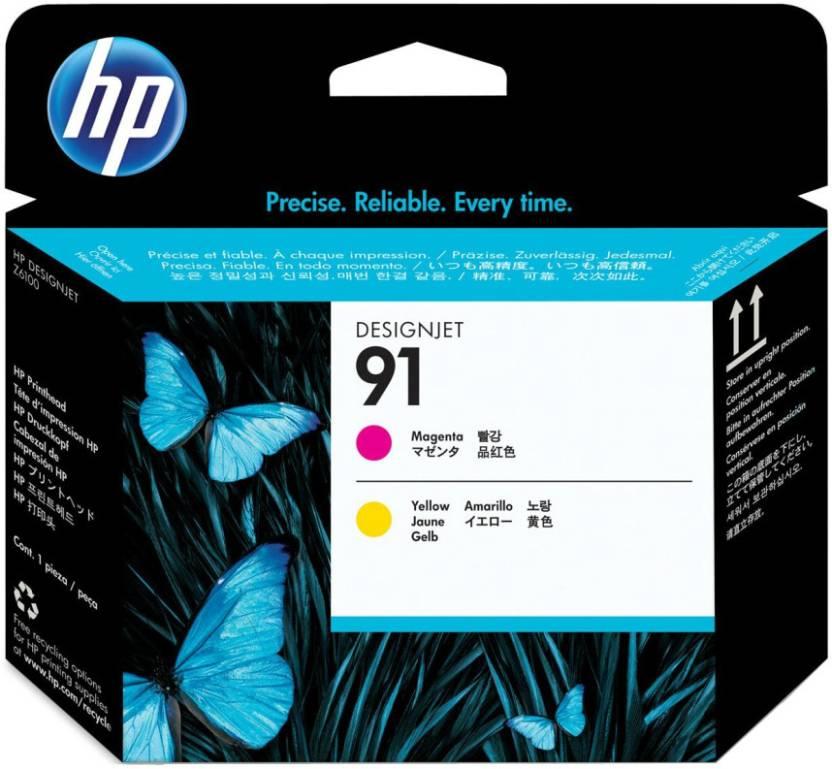 HP 91 Magenta and Yellow Printhead