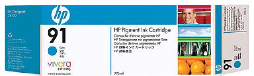 HP 91 775 ml Pigment Cyan Ink Cartridge