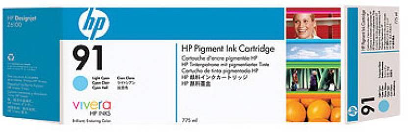 HP 91 775 ml Pigment Light Cyan Ink Cartridge